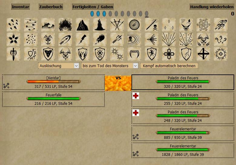 Arthoria.de Kampfsystem